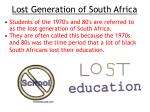 lost generation of south africa