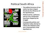 political south africa