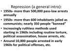 repression a general intro