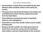 south africa divided by race