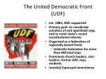 the united democratic front udf