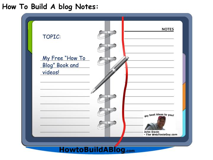 how to build a blog notes n.