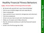 healthy financial fitness behaviors