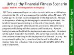 unhealthy financial fitness scenario