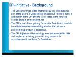 cpi initiative background