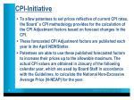 cpi initiative