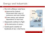 energy and industrials