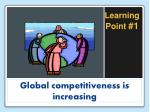 global competitiveness is increasing