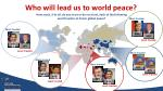 who will lead us to world peace1