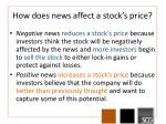 how does news affect a stock s price1