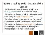 sanity check episode ii attack of the clones
