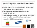 technology and telecommunications