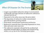 effect of disaster on the environment