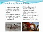 prevention of future disasters1