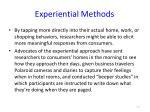 experiential methods