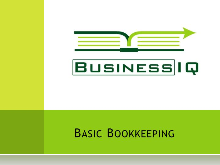 basic bookkeeping n.