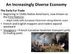 an increasingly diverse economy