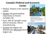 canada s political and economic center