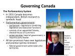 governing canada