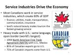 service industries drive the economy