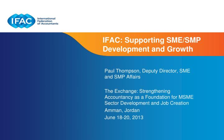 ifac supporting sme smp development and growth n.