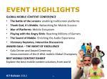 event highlights