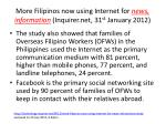 more filipinos now using internet for news information inquirer net 31 st january 20122