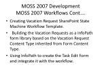 moss 2007 development moss 2007 workflows cont