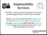 employability services