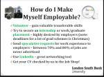 how do i make myself employable