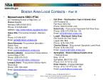boston area local contacts part iii