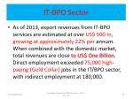 it bpo sector