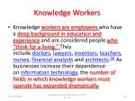 knowledge workers