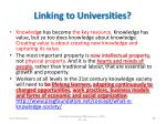 linking to universities