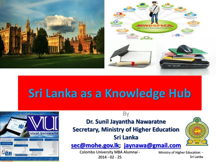 sri lanka as a knowledge hub n.