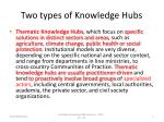 two types of knowledge hubs