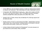 illusion of wealth creation