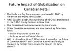 future impact of globalization on canadian retail2