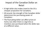 impact of the canadian dollar on retail1