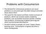problems with consumerism