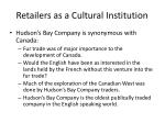 retailers as a cultural institution