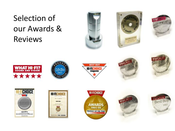 Selection of our Awards &