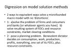 digression on model solution methods