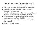 ecb and the ez financial crisis