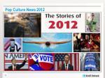 pop culture news 2012