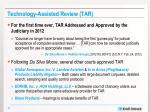 technology assisted review tar