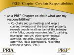 prep chapter co chair responsibilities