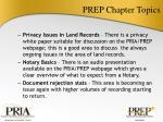 prep chapter topics2