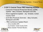 prep meeting agendas central texas
