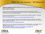 prep meeting agendas ne minnesota